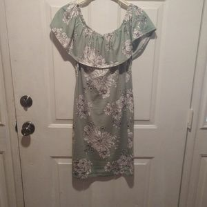 Size small dress. Mint green with white flowers